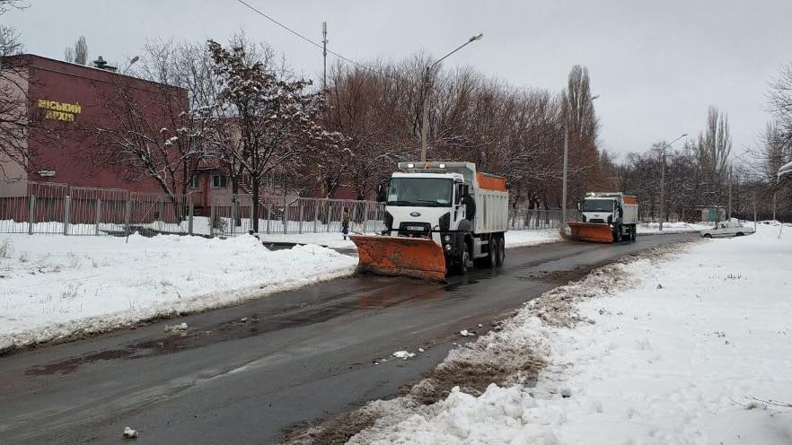 Снегоборьба в Кривом Роге