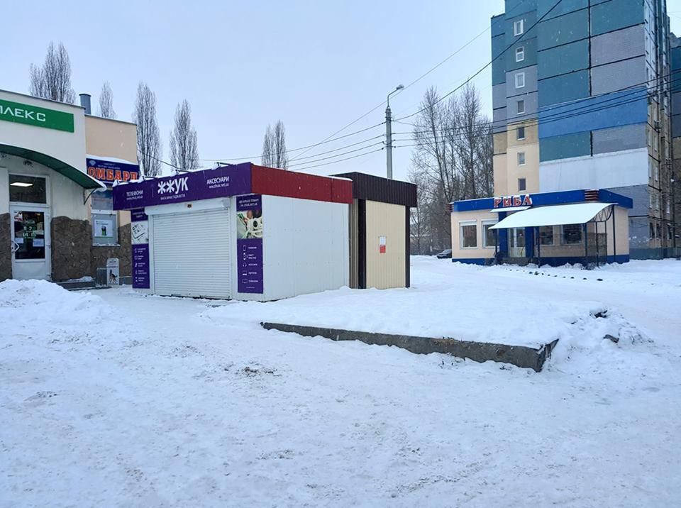 На этом месте 31 декабря установили павильон без разрешительных документов
