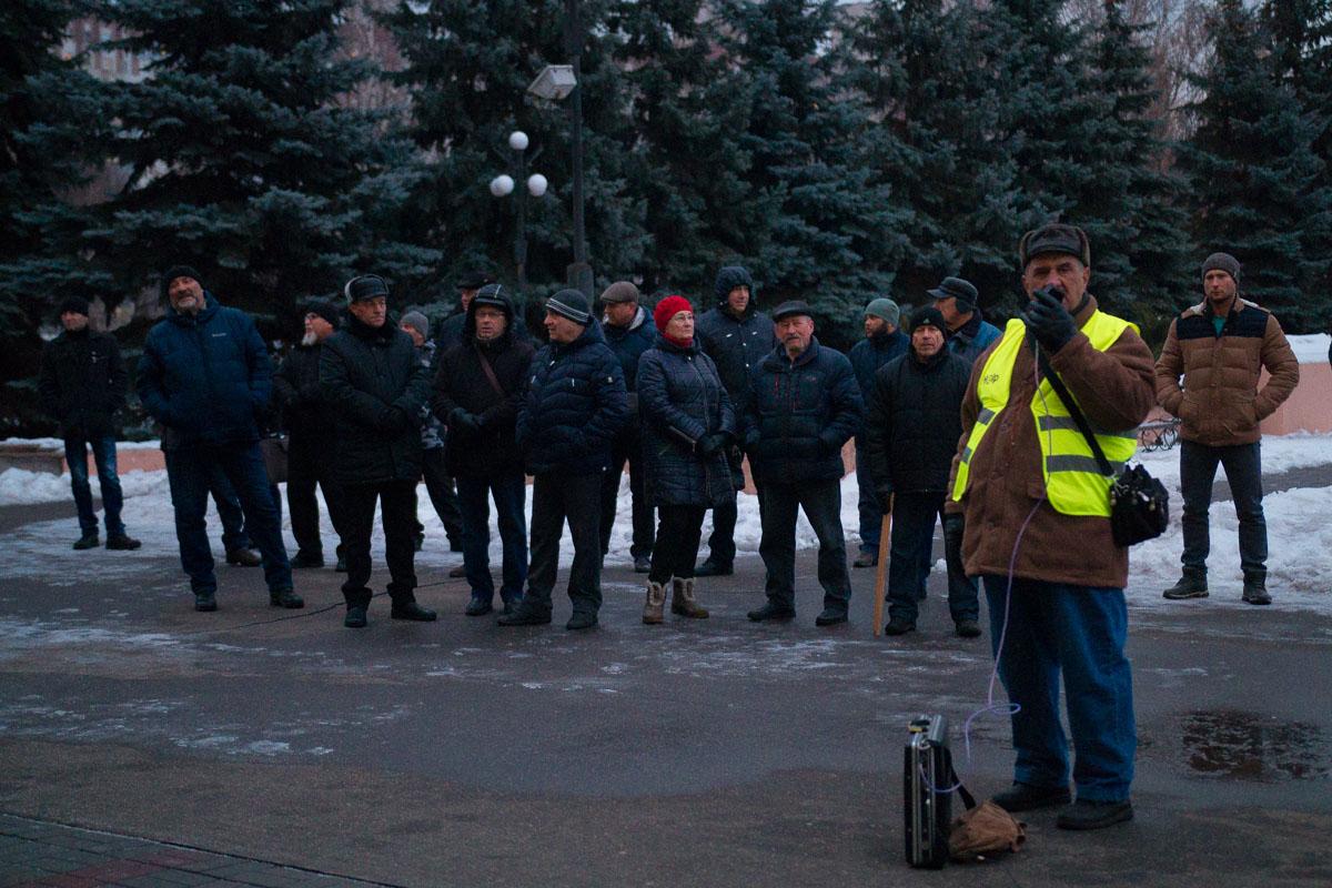 Криворожане вышли на акцию против повышения стоимости проезда в маршрутках
