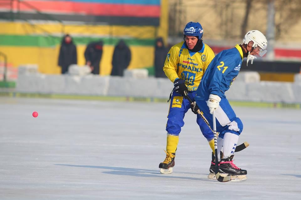 Игорь Михайлов на Чемпионате мира в составе сборной Украины по хоккею с мячом
