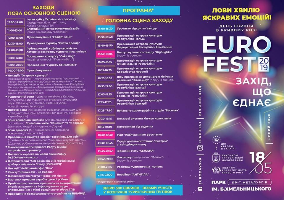 Программа Еврофеста