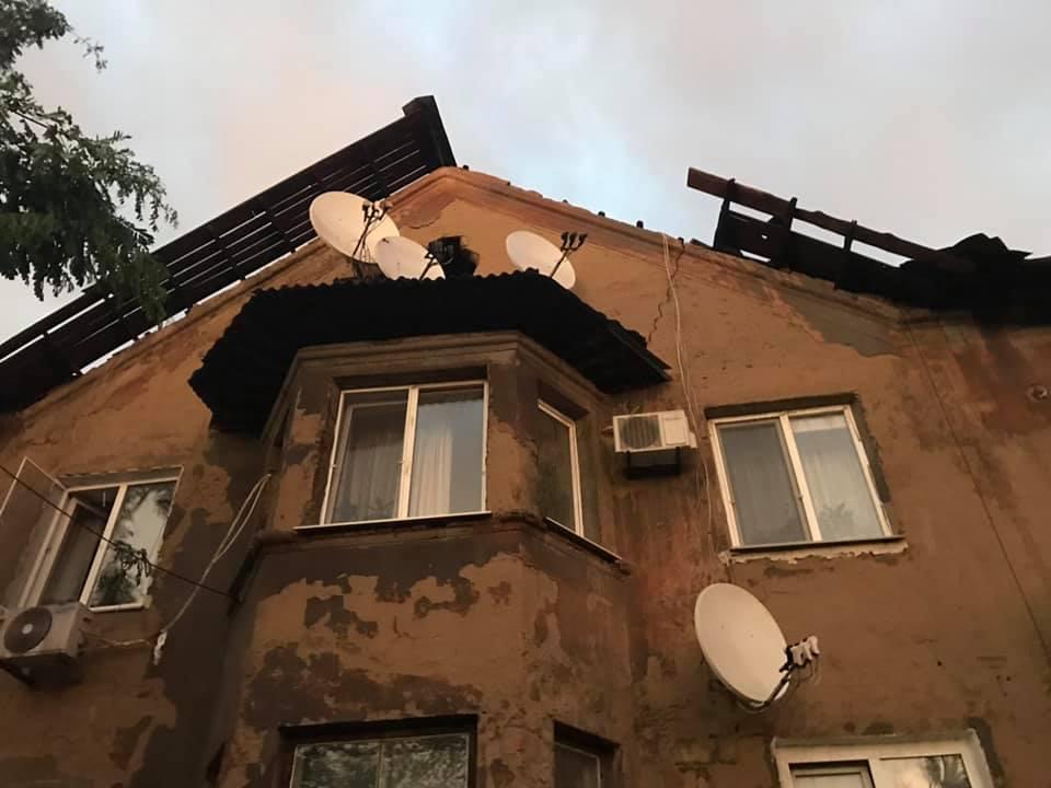 Ураган не пощадил дома в Ингулецком районе