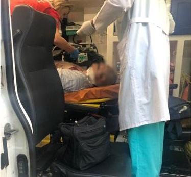 Пострадавшего водителя госпитализировала во Вторую горбольницу бригада скорой помощи