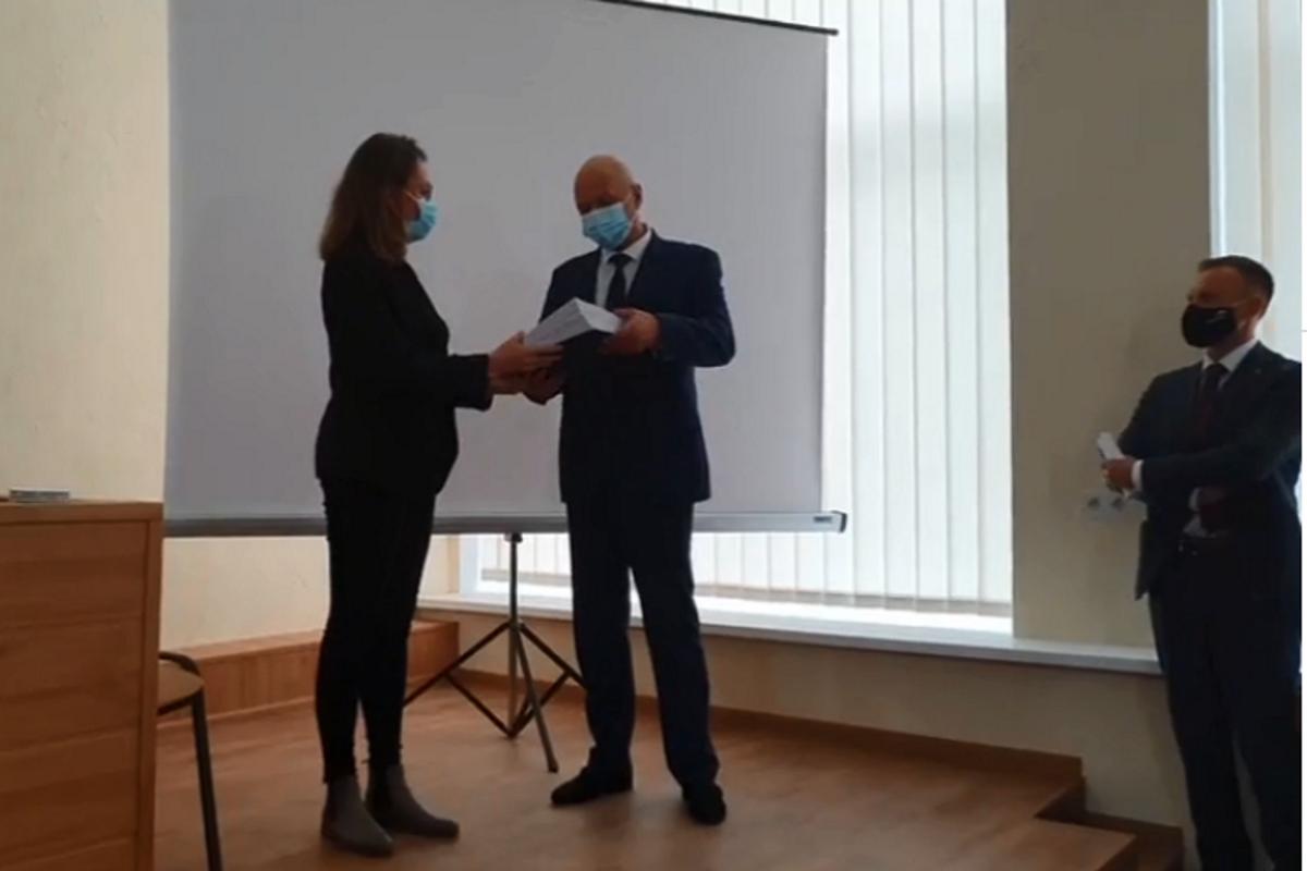 На презентации присутствовала представительница немецкой компании-подрядчика.